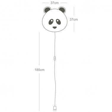 Lampara de pared Softlight Panda