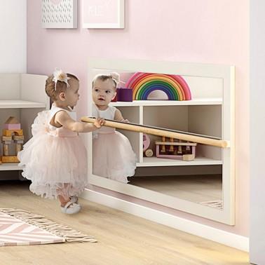 espejo con barra para niños arco iris