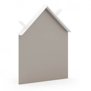 pizarra forma casita con estante arco iris