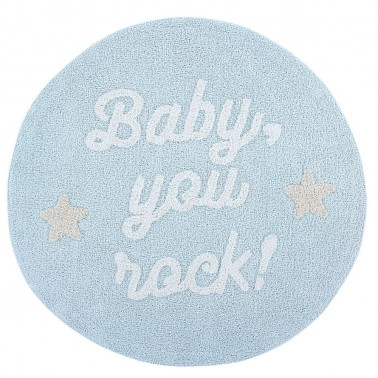 alfombra lavable baby you rock de lorena canals
