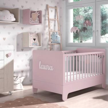 nombre adhesivo para la habitación del bebí© arco iris