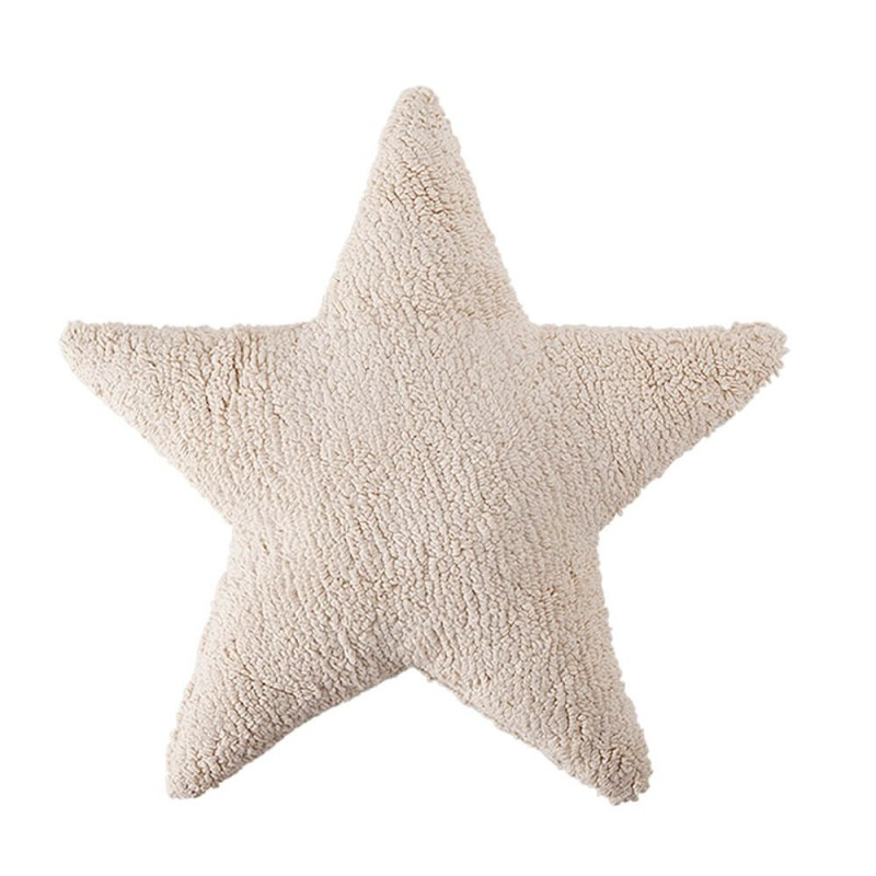 cojin lavable estrella crema de lorena canals