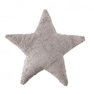 cojin lavable estrella gris claro de lorena canals