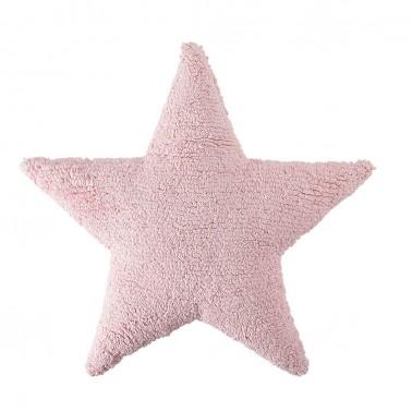 cojin lavable estrella rosa de lorena canals