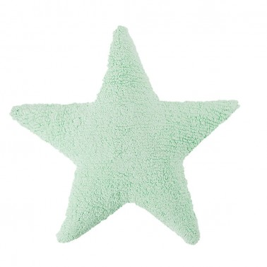 cojin lavable estrella soft mint lorena canals