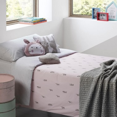 funda nordica cama 90 snoops rosa petit praia
