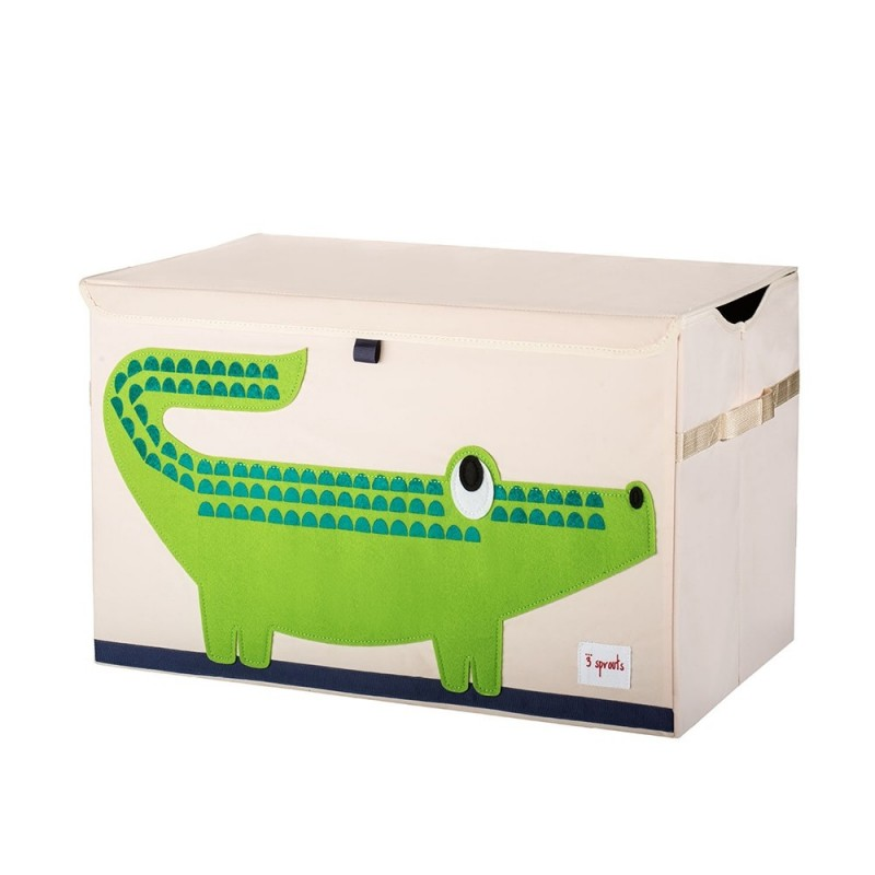arcon para juguetes con tapa cocodrilo 3 sprouts