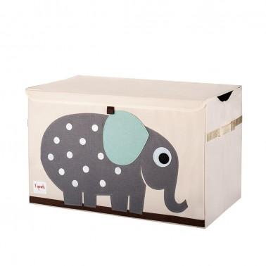 arcon para juguetes con tapa elefante 3 sprouts