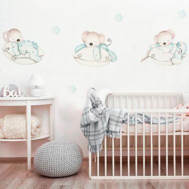 vinilo infantil ratoncitos en almohadas imda