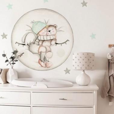 vinilo infantil dreams luna mint imda
