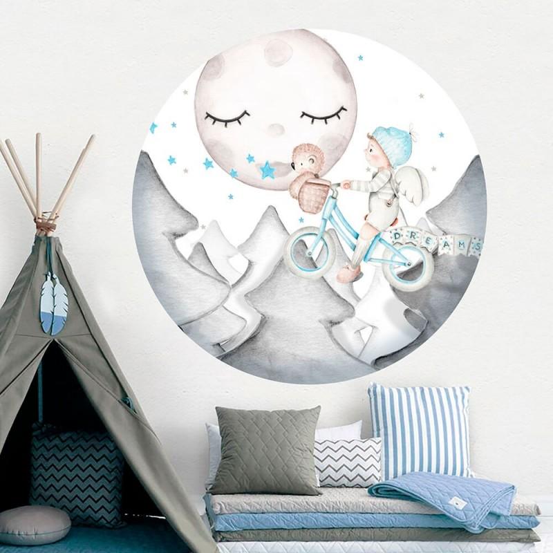 vinilo infantil ventana dreams ii azul imda