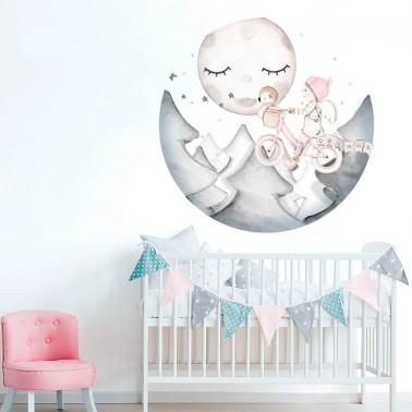 vinilo infantil ventana dreams ii rosa imda
