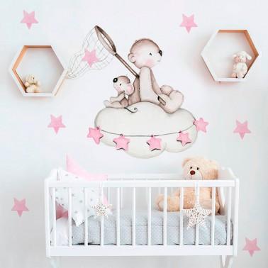 vinilo infantil busca estrellas rosa imda