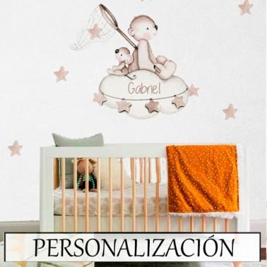 Vinilo Infantil Busca estrellas tostado IMDA
