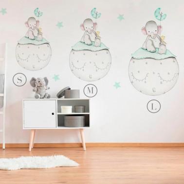 Vinilo Infantil Elefante mint IMDA