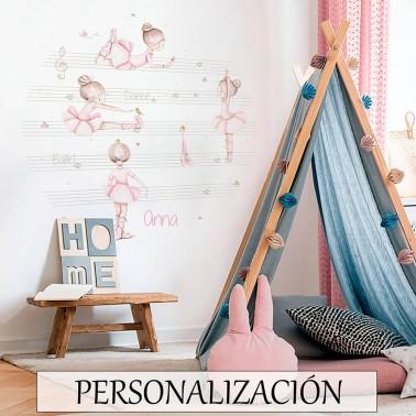 Vinilo Infantil Ventana Pentagrama IMDA