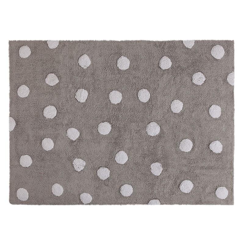 alfombra infantil lavable topos gris lorena canals
