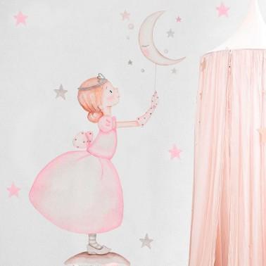 vinilo infantil princesa estrella imda