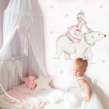 vinilo infantil princesa nordica rosa imda