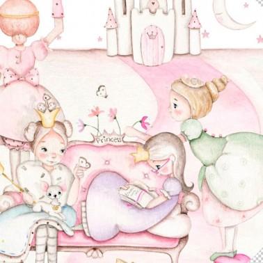 Vinilo Infantil Ventana Princess IMDA