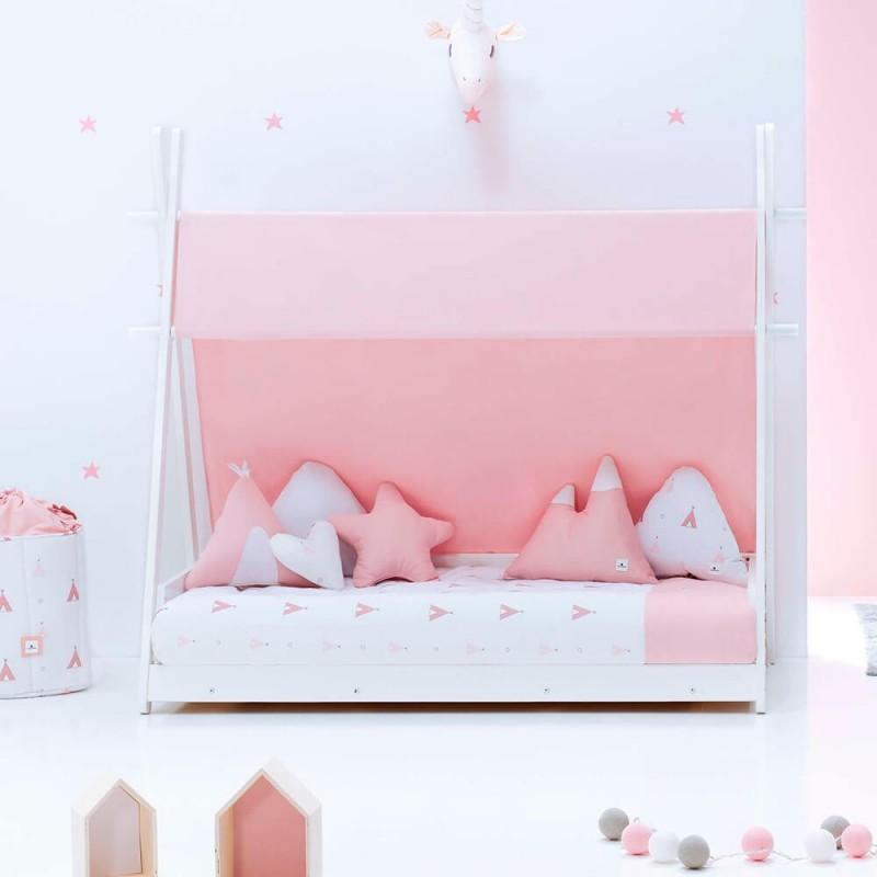 pack camita montessori homy indiana rosa 70x140