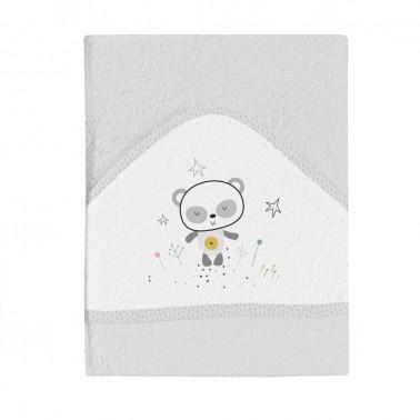 maxicapa de baño bebí© gris panda