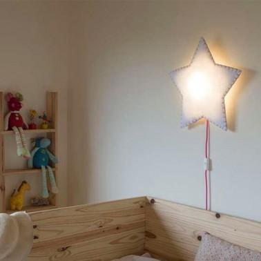 lampara pared estrella