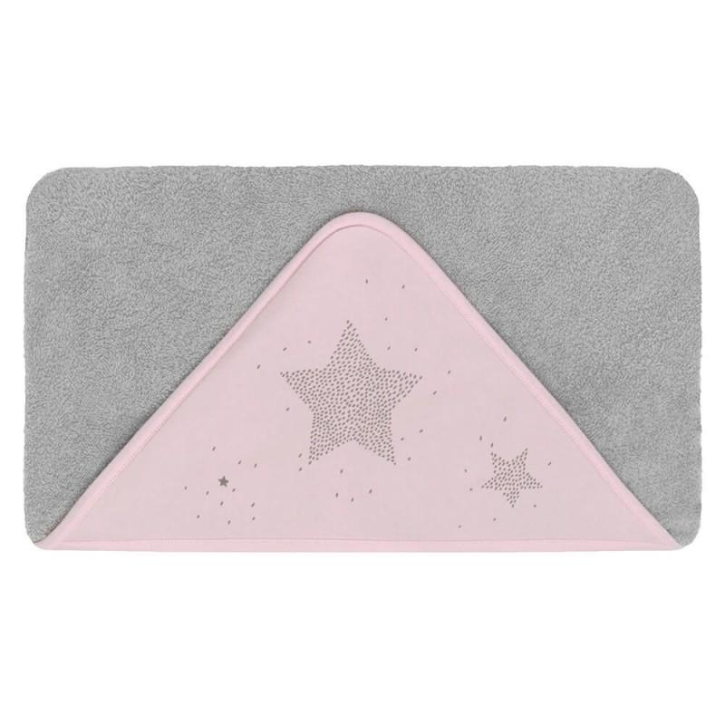 capa de baño bebe etoile rosa petit praia
