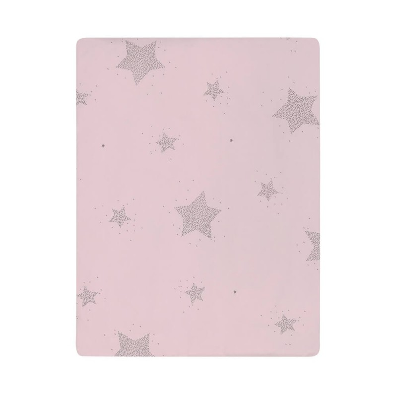colcha minicuna etoile rosa petit praia
