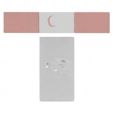 colcha y protector cuna y maxicuna delta rosa