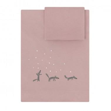 sabanas de cuna y maxicuna moss rosa babyclic