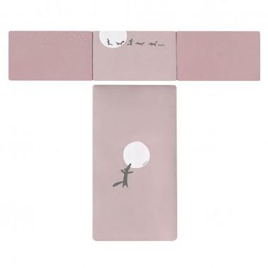 colcha y protector cuna y maxicuna moss rosa