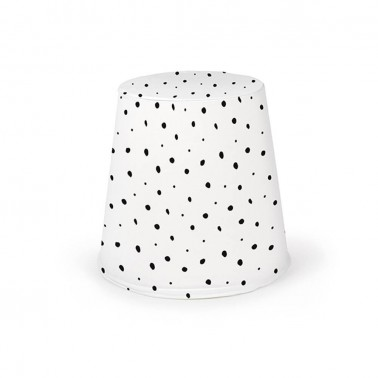 puff cónico dots blanco mood de ros