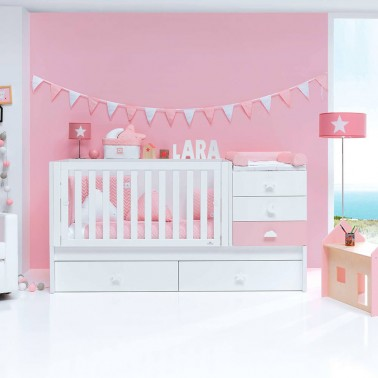 Cuna convertible SERO BUBBLE CORAL Alondra