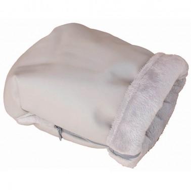 guantes para carrito en ecopiel y pelo corto rosy fuentes