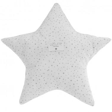 cojin decorativo estrella amelie gris