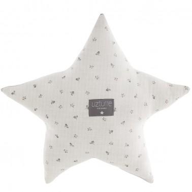 cojin decorativo estrella daniela gris