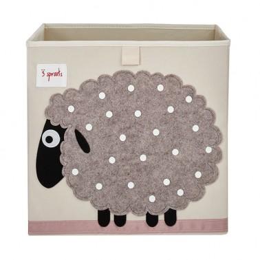 cubo almacenaje infantil oveja 3 sprouts