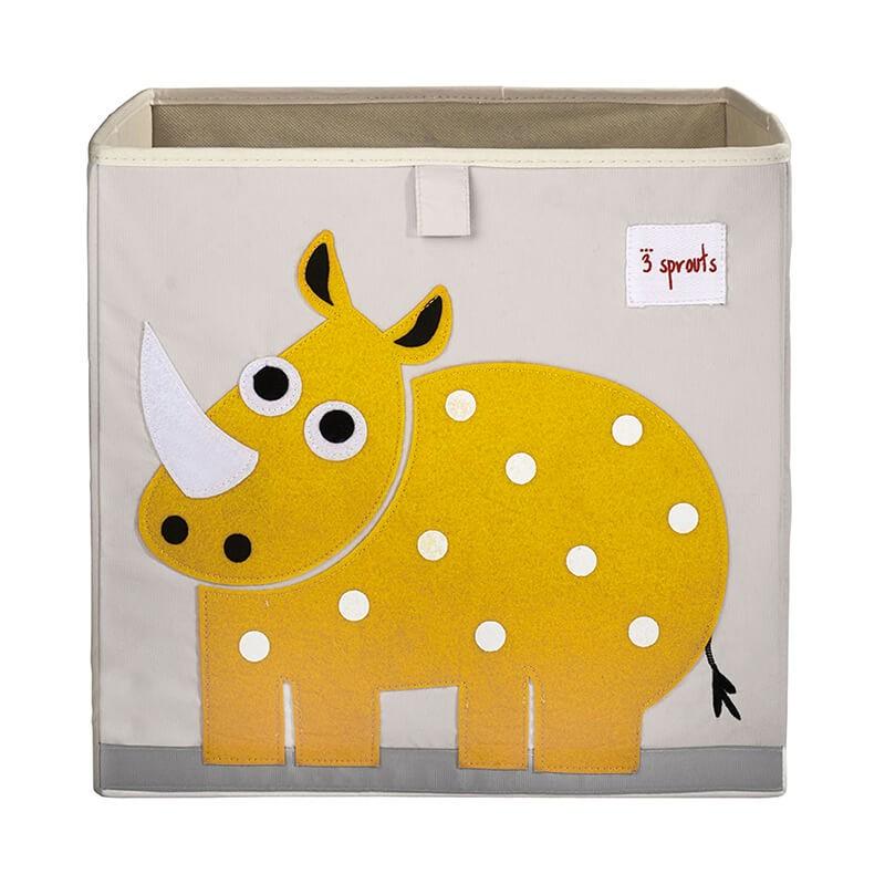 cubo almacenaje infantil rinoceronte 3 sprouts