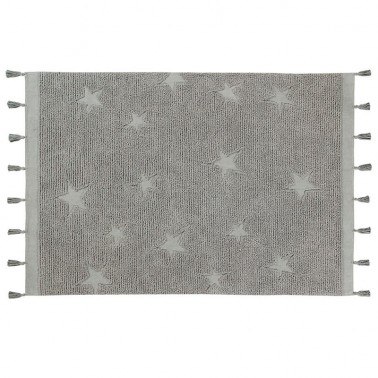 Alfombra Lavable Hippy Stars Grey Lorena Canals
