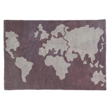 alfombra lavable mapa mundi lorena canals