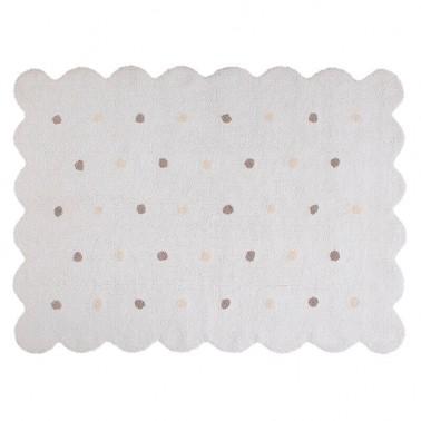 alfombra infantil lavable galleta blanca lorena canals