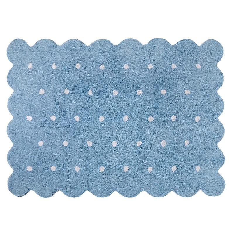 alfombra infantil lavable galleta azul lorena canals