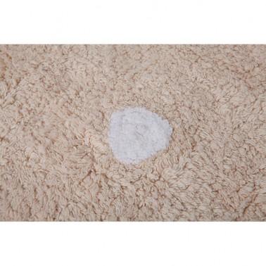 alfombra infantil lavable galleta crema lorena canals