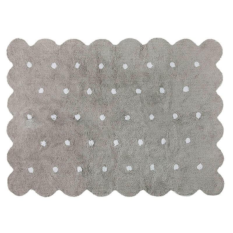 alfombra infantil lavable galleta gris lorena canals