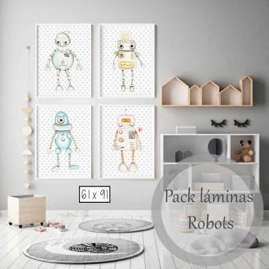 Pack Laminas Robots