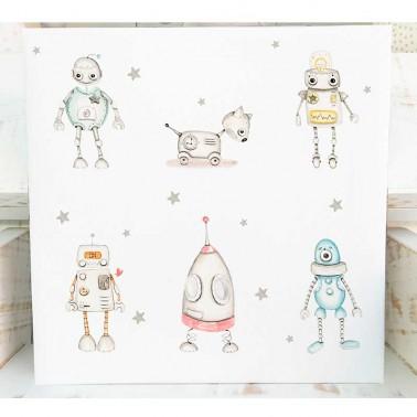 Cuadro infantil Robots