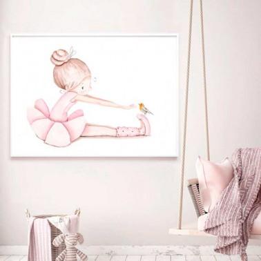 Lamina infantil Bailarina sentada