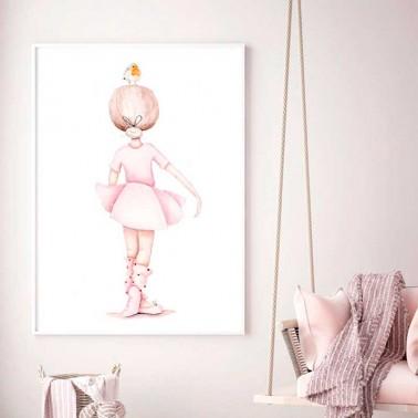 Lamina infantil Bailarina espaldas