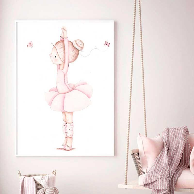 Lamina infantil Bailarina manos levantadas
